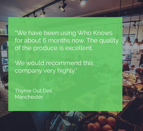 Thyme Out, Manchester - Testimonial